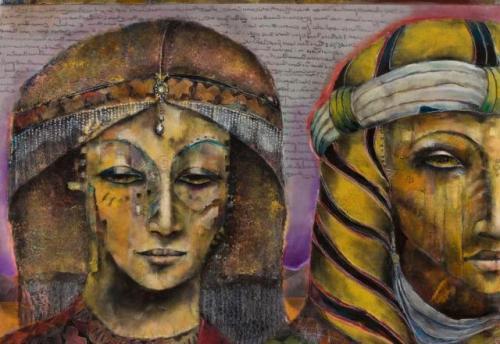 King Salomon and Queen of Sheba (Verkocht)